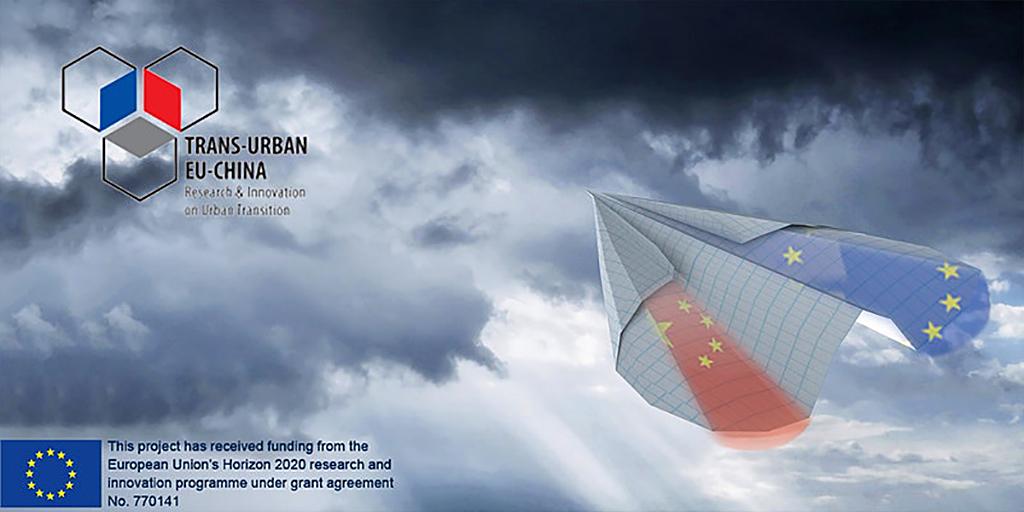 Visuel (ciel et logo) du webinaire transurbain EU-Chine