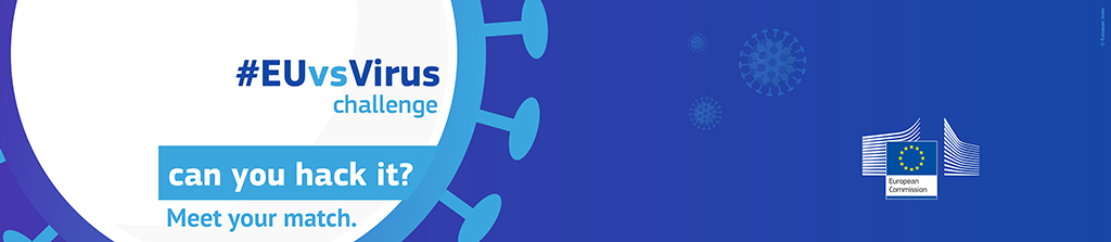 Logo et visuel du Hackathon EUvsVirus