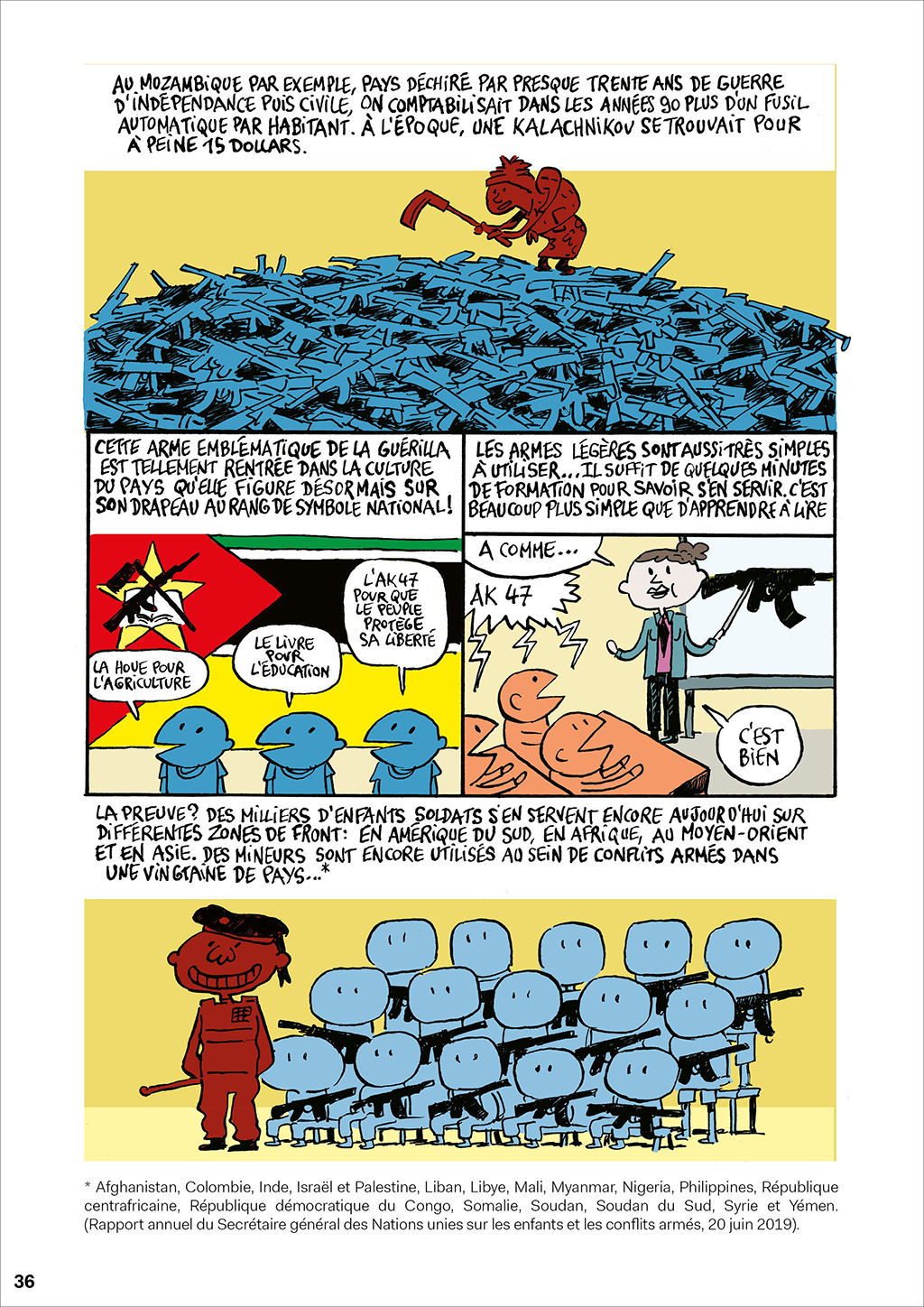 A page from the comic book.