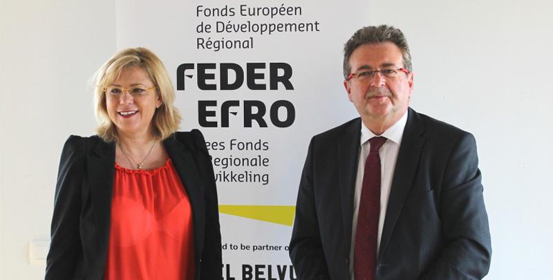 Une visite européenne aux projets FEDER à Molenbeek