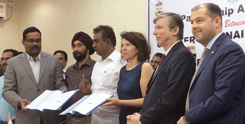 La Région de Bruxelles-Capitale et la Municipalité de Chennai signent un accord de coopération