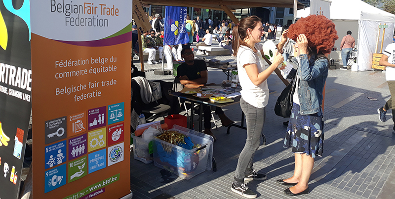 Sharing fair trade values in the centre of Brussels