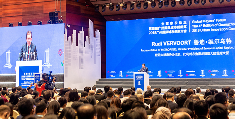 Our Minister-President was the guest of honour at the Global Mayors' Forum in Guangzhou