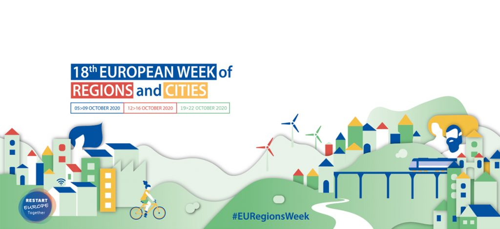 illustration et dates de l'European Week of Regions and Cities 2020