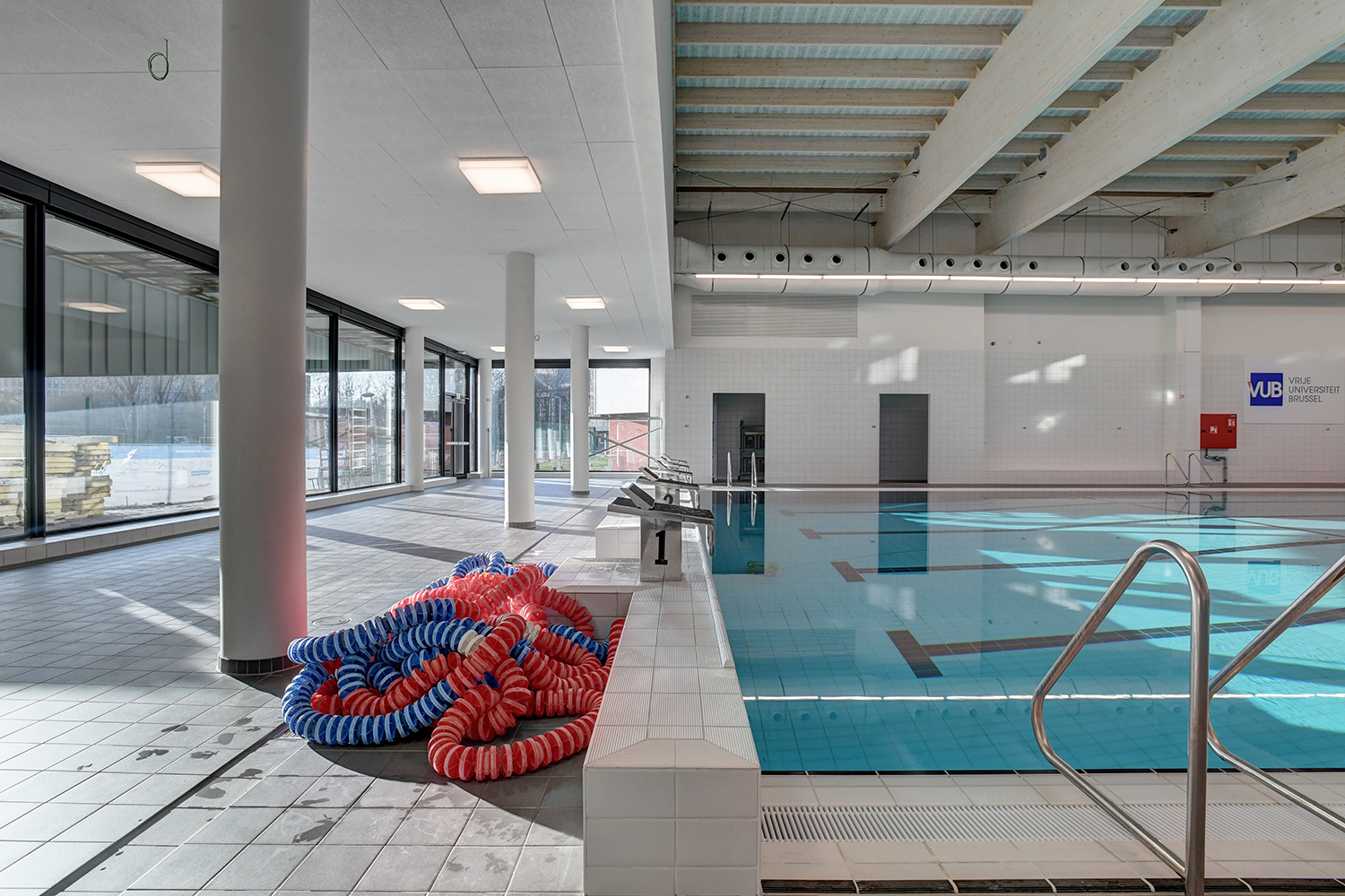Interior view of the swimming pool