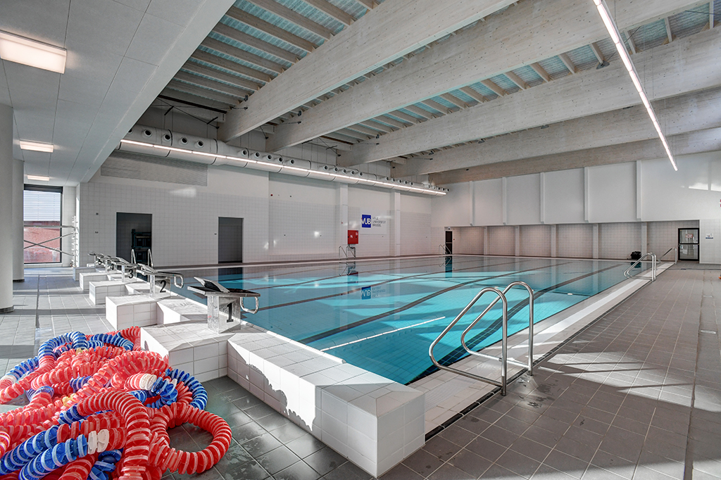Interior view of the training pool