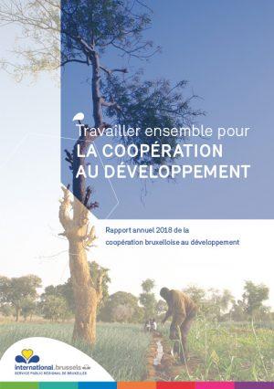 Couverture du Rapport annuel 2018 de la coopération bruxelloise au développement