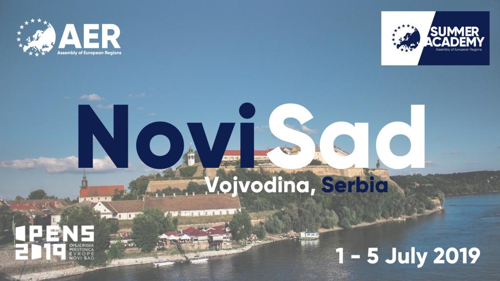 Vue de Vojvodina (Serbie) et annonce de la Summer Academy de l'ARE