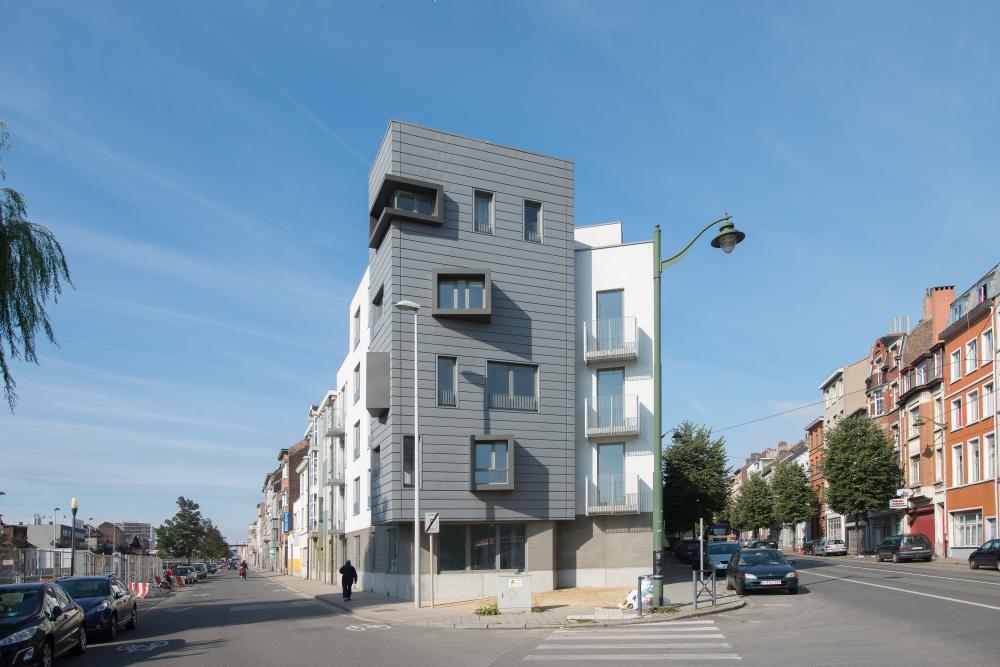 Bekijk van een appartementsgebouw